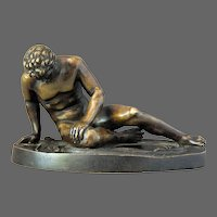 Roman Bronze Dying Gaul Gladiator Sculpture