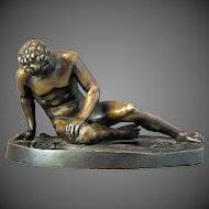 Roman Bronze Dying Gaul Gladiator Sculpture