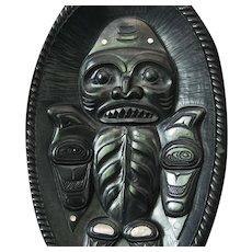 Native American Indian Haida Argillite Bowl by Alfie Collinson