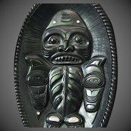 Northwest Coast Haida Argillite Bowl by Alfie Collinson