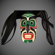 Native Kwakiutl Cedar Mask Rupert Scow Bukwus Northwest Coast Native Art
