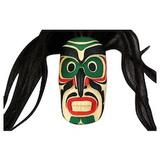 Native Kwakiutl Cedar Mask Rupert Scow Bukwus Northwest Coast Native Art