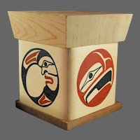 Northwest Coast Native Art Bent Box BEN HOUSTIE Bella Bella