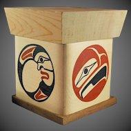 Northwest Coast Native Art Bent Box BEN HOUSTIE Bella Bella