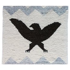 Northwest Coast Native American Salish Blanket Eagle Crest