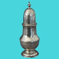 Georgian Sterling Silver English Jabez Daniell Muffineer Castor Shaker