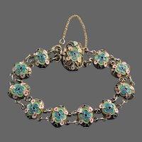 Russian Cloisonne Silver Enamel Bracelet C. 1908 - 1926