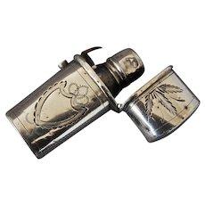 Georgian Sterling Silver Perfume Scent Bottle Etui by Wardell Kempson