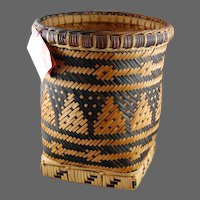Native American Indian Basket Cherokee  Quality Weaving
