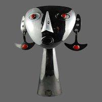 Taller Tinta Equador Modernist Presentation Sculpture Inca Mask