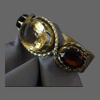 Victorian Scottish Cairngorm Citrine Gemstone Bracelet