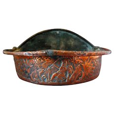 Sacred Copper Holy Water Font Basin 17th C.