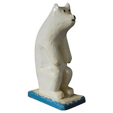 Canadiana Folk Art Polar Bear  Irvin. D