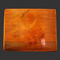 Marquetry Emile Galle  French Art Nouveau Dragon Fly Table Top