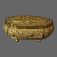 Sri Lanka Kandyan Arts Association Jewellery Casket Box Brass Hallmarked