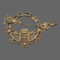 Tara Brooch Waterhouse & Co Dublin Celtic Silver Gilt Brooch Shawl Pin