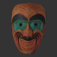 Northwest Coast Native Bukwas Mask/ Man of the Forest, Signed Charlie George Alert Bay