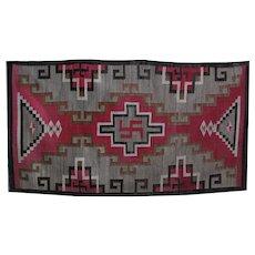 Navajo Blanket Native American Weaving Whirling Logs, Tumbling Logs