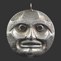 Northwest Coast Native Moon Pendant, Russell Smith, Sterling