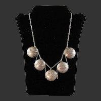 Northwest Coast Native Tlingit Silver Coin Necklace