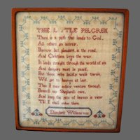 Antique Sampler Cross Stitch Elizabeth Willians 1832