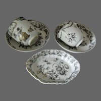 18th Century Chinese Porcelain Collection Grisaille Encre de Chine