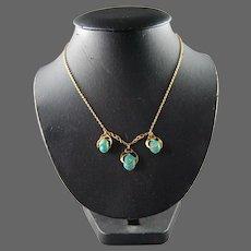 Arts & Crafts 15 CT Gold Turquoise Necklace Murrle Bennett & Co Art Nouveau