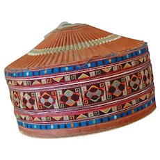 Chinese Ethnic Miao Embroidered Hat