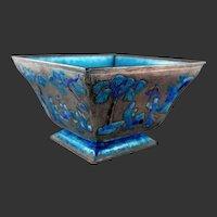 Chinese Export Blue Enamel Bowl C. 1920