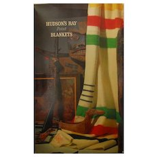 Hudson's Bay Point Blanket Original Box w/ Native First Nations Artifacts