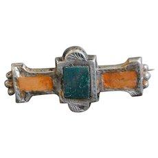 Scottish Bar Pin Silver Victorian