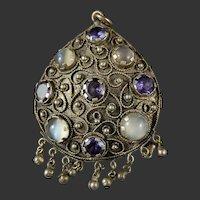 Boho Tribal India Kuchi Gypsy Pendant
