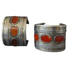 Turkeman Turkman Tekke Bracelet Pair Cuffs Bangles