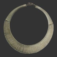 Miao Chinese Minority Hill Tribe Sterling Silver Necklace