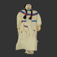Northern Plains First Nations Doll w/ Beadwork