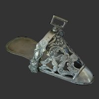 Spanish Colonial Sterling Silver Side Saddle Stirrup 19th C.