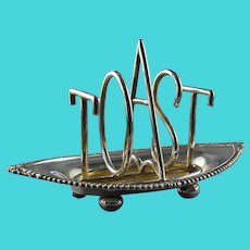 TOAST Rack J.B. Chatterly & Sons English Silver Plate