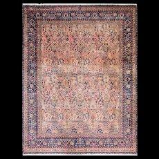 """8'3"""" x 10'9"""" Persian Laver Kerman, c-1920's"""