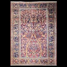 "3'4"" x 4'10"" Persian Manchester wool Kashan Rug, c-1920's"