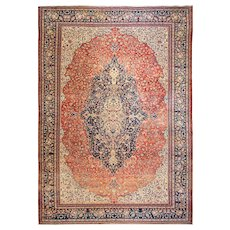 """9'10"""" x 13'8"""" Amazing Antique Persian Sarouk Feraghan Carpet, c-1880's"""