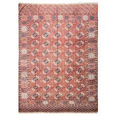 "Antique Tekke Main Carpet, Turkoman, 6'7"" x 9'6"" #01004, c-1880"