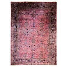 "Antique Persian Mohajeran Sarouk Carpet,  11'8"" x 16'3"", c-1920's"
