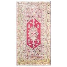 "Antique Turkish Ghiordes/Oushak Rug, 5'8"" x 11'6"", c-1900"