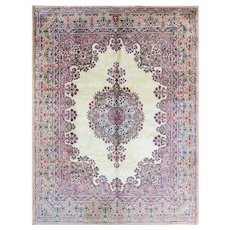 "6'11"" x 9'1"" Persian Royal Kerman Rug, Mid-20th Century"