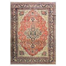 "Antique Persian Feraghan Sarouk Carpet, c-1880 #11265 8'10"" x 12'3"""