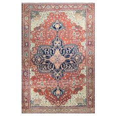 """Antique Sarouk Feraghan Rug,c-1880, 7' x 10'6"""" c-1880's  #11408"""