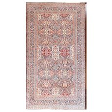 "Antique Persian Kashan Dabire Carpet, 8'9"" x 16'3"" c-1910 #11428"