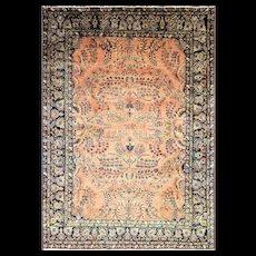"8'6"" x 11'10"" Wonderful Antique Mohajeran Sarouk, c-1910's"