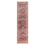 "2'7"" x 10'6"" Amazing Persian Sarouk Runner Carpet, c-1930"