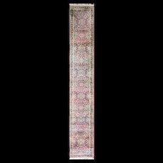 """2'8"""" x 19' Persian Laver Kerman Runner, c-1920's"""